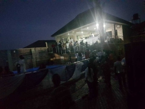 Residents Gather As Billionaire Ayiri Emami Hosts Birthday Party In His Mansion. Photos